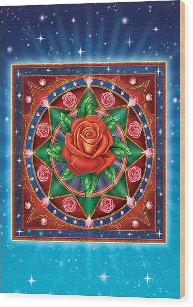 Rose - Pure Love Wood Print