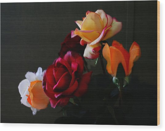 Roses Are Forever 1 Wood Print