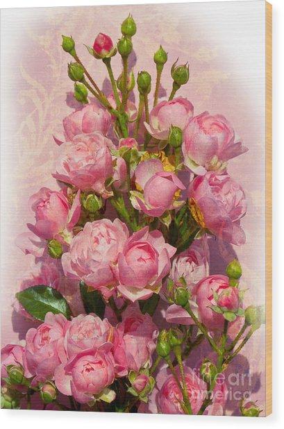 Roses Decor Wood Print by Lutz Baar