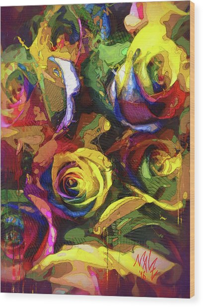 Roses Dream Wood Print