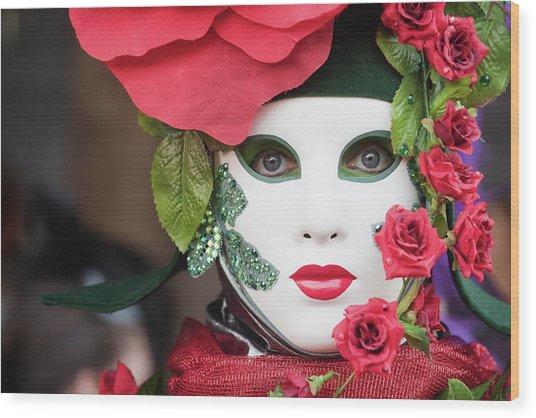 Roses I Wood Print