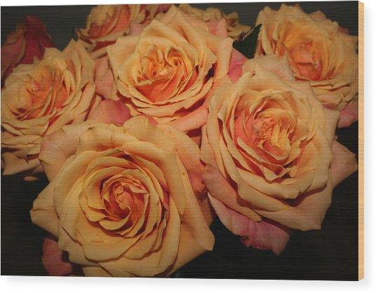Roses Wood Print by Linda Hardin