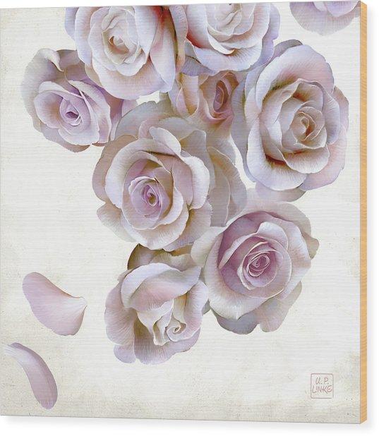 Roses Of Light Wood Print
