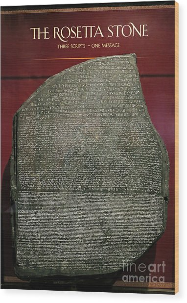 Rosetta Stone Replica Wood Print