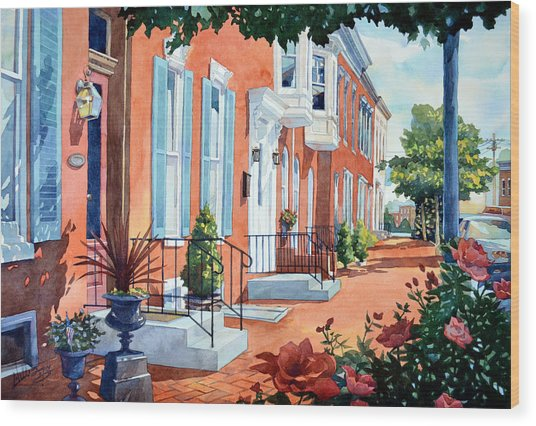 Rosewalk Wood Print