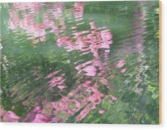 Rosey Ripples Wood Print