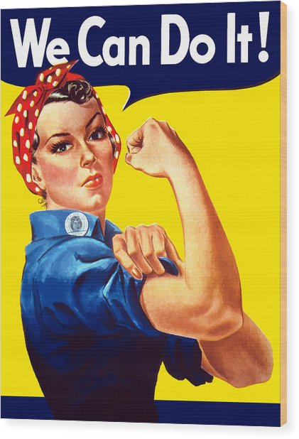 Rosie The Rivetor Wood Print