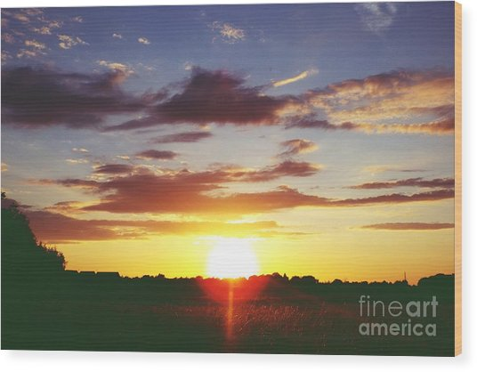 Rossington Sunset 2 Wood Print