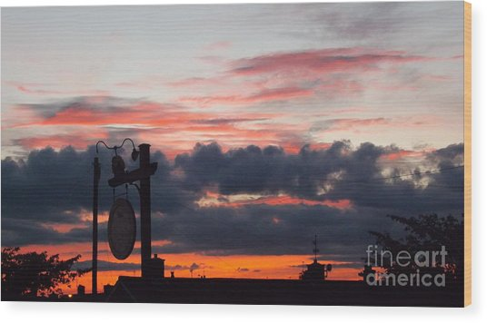 Rossington Sunset Wood Print