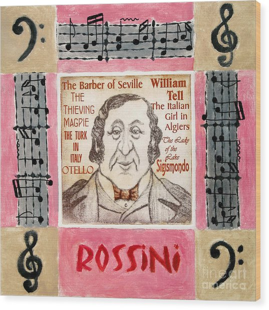 Rossini Portrait Wood Print by Paul Helm
