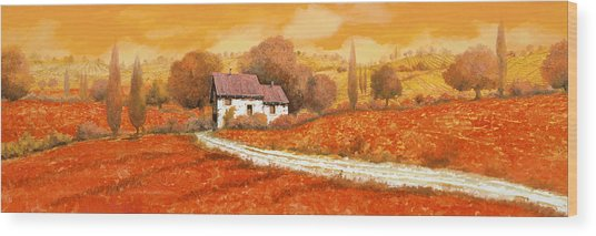 Rosso Papavero Wood Print