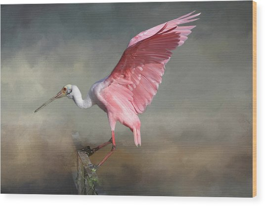 Rosy Wood Print
