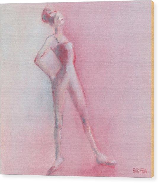 Rosy Pink Ballerina Wood Print