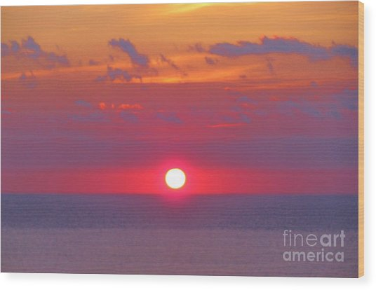 Rosy Sunrise Wood Print