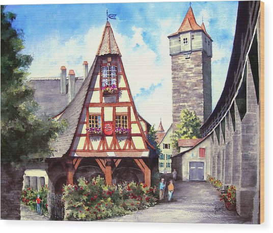 Rothenburg Memories Wood Print
