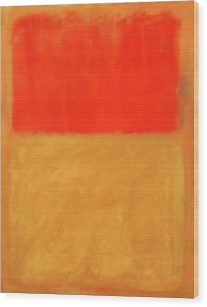 Rothko's Orange And Tan Wood Print