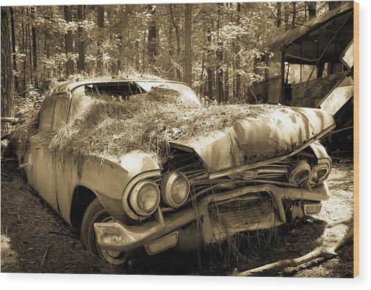 Rotting Classic Wood Print