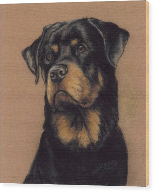 Rottweiler Wood Print