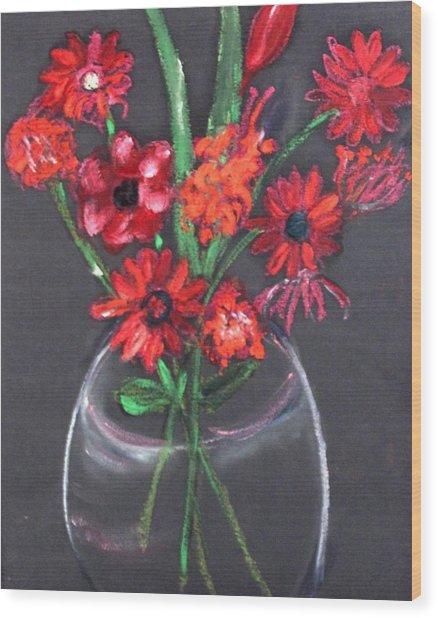 Rouge Et Noir Wood Print by Michela Akers