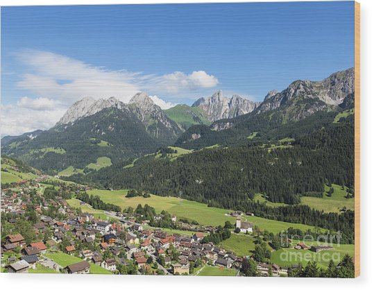 Rougemont Village In Switzerland Wood Print