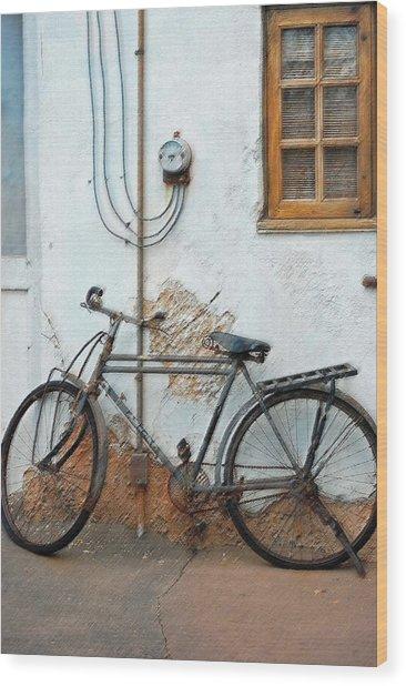 Rough Bike Wood Print