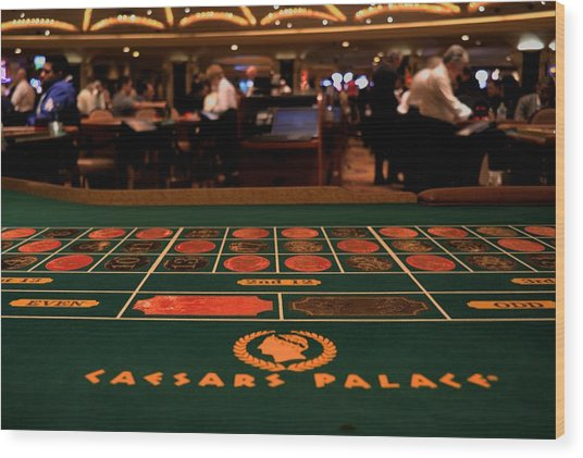 Roulette Wood Print by Patrick  Flynn