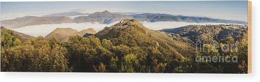 Round Mountain Lookout Wood Print