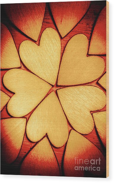 Rounded Romance Wood Print