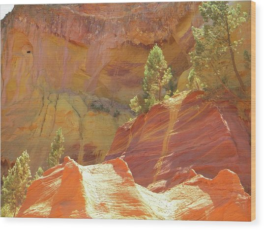 Roussillon Colours Wood Print