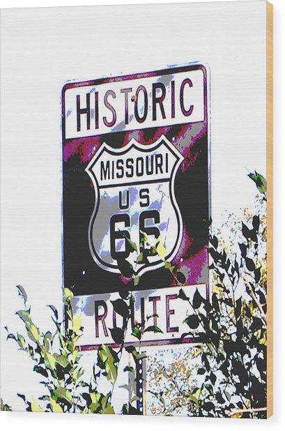 Route 66 2 Wood Print by Audrey Venute