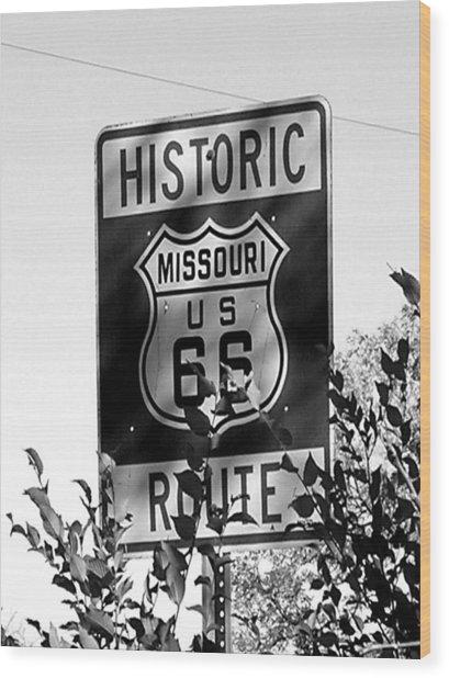 Route 66 Wood Print by Audrey Venute