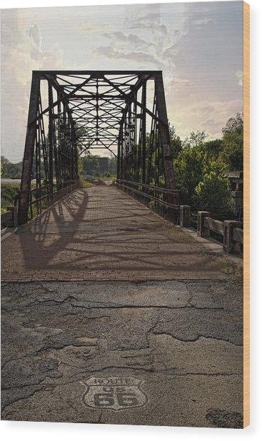 Route 66 Bridge Wood Print