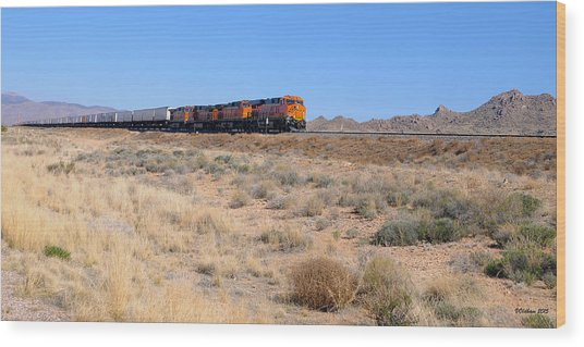 Route 66 Freight Train Wood Print