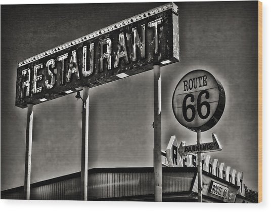 Route 66 Restaurant Wood Print