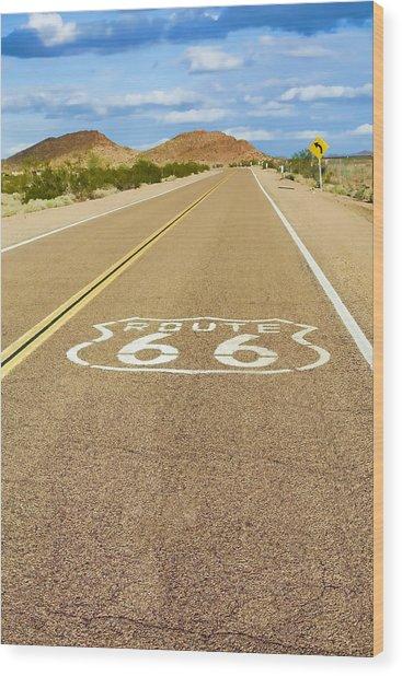 Route 66 Vintage Wood Print