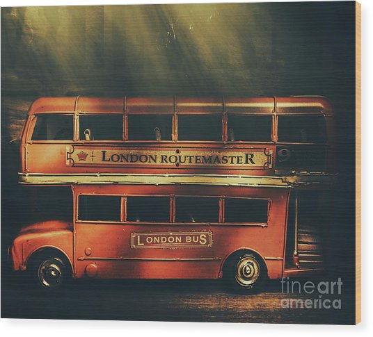 Routemaster Bus Station Wood Print
