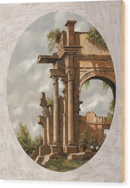 Rovine Romane Wood Print