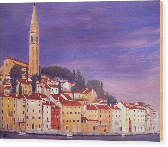 Rovinj Wood Print by Anthony Meton