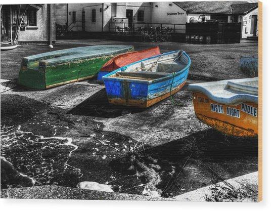 Row Boats At Mudeford Wood Print