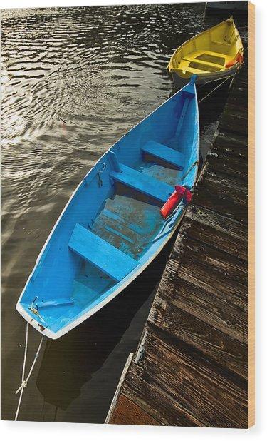 Row Boats Wood Print by Dale Stillman