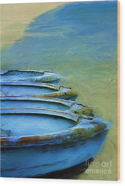 Rowboats Wood Print