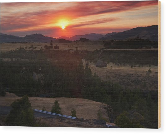 Rowena Sunset Wood Print