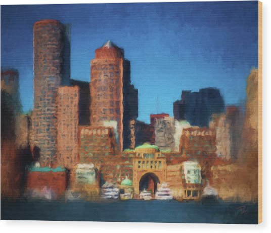 Rowes Wharf Boston Wood Print