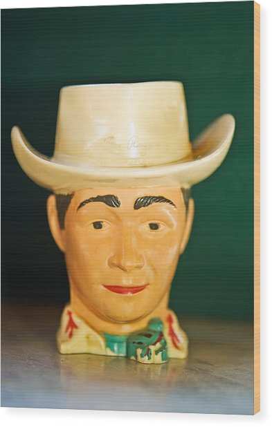 Roy Rogers Cup Wood Print