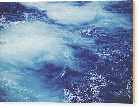 Royal Blue Wood Print