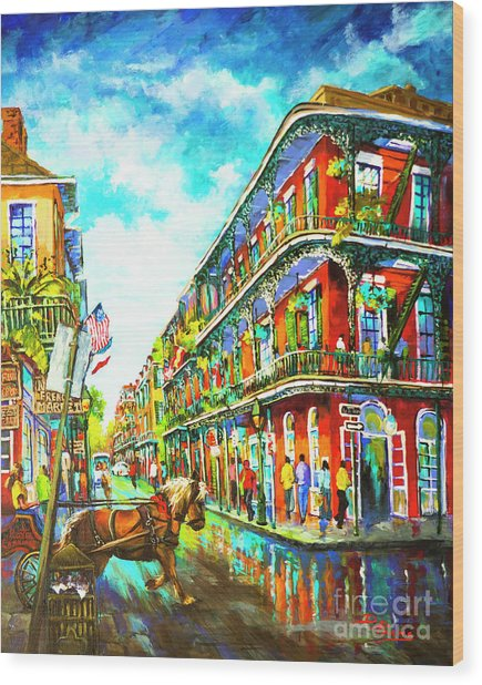 Royal Carriage - New Orleans French Quarter Wood Print