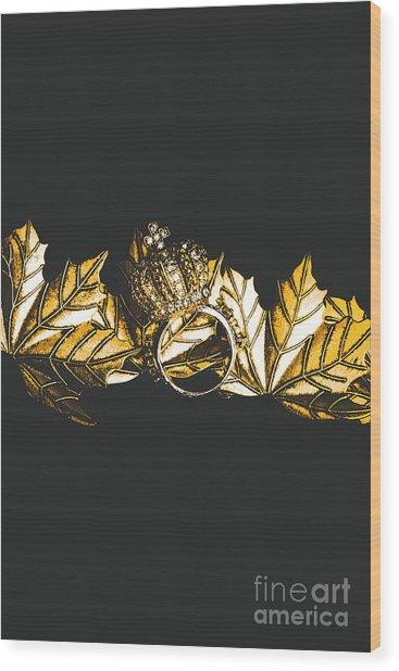 Royal Crown Jewels Wood Print