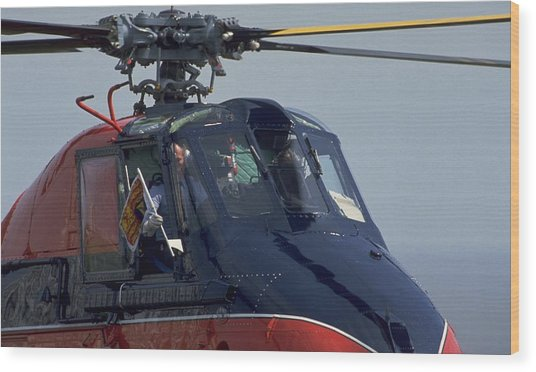 Royal Helicopter Wood Print