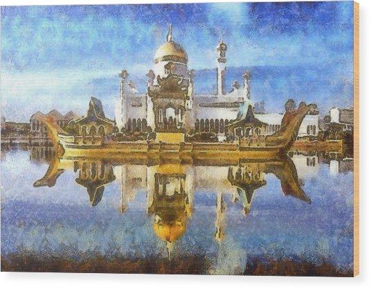 Royal Mosque  Wood Print