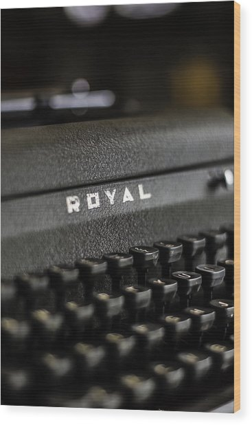 Royal Typewriter #19 Wood Print